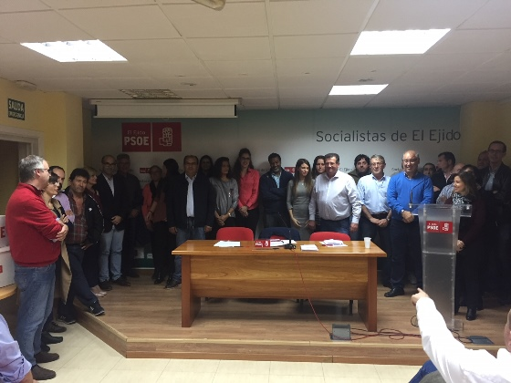 nueva comision ejecutiva municipal del psoe de el ejido 24-11-17