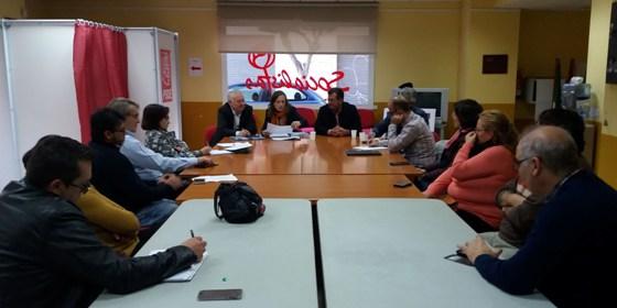 reunion con la delegada de educacion en el psoe de el ejido