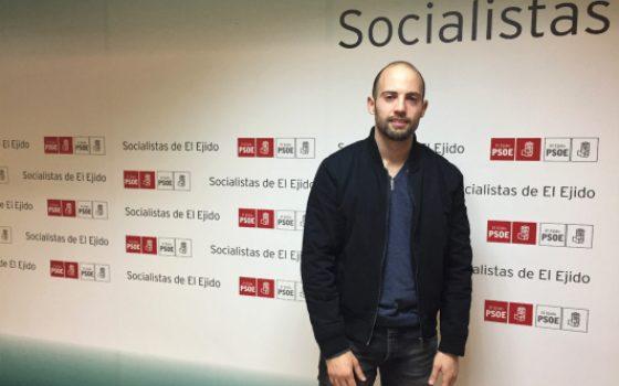 131218 Cristian Vique, vocal y portavoz del PSOE en la Junta Local de Santa María del Águila