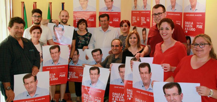 Los socialistas arrancan con fuerza e ilusión la campaña del 26M con la presentación de una candidatura dispuesta a 'Darle la Vuelta a El Ejido' de la mano de José Miguel Alarcón