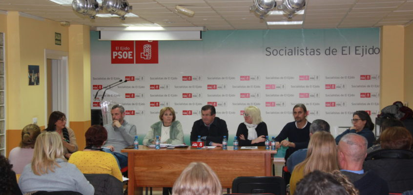 El PSOE de El Ejido reúne a organizaciones sindicales y trabajadoras del sector del manipulado para intercambiar impresiones sobre la negociación del nuevo convenio