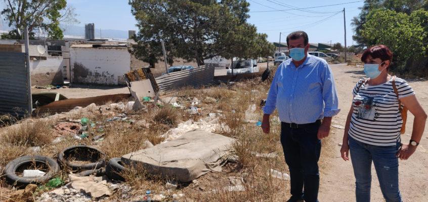 """El Grupo Municipal Socialista reitera a PP y VOX que aplique """"de una vez"""" la ordenanza municipal  ante la """"tremenda dejadez"""" en materia de limpieza de los barrios y núcleos de El Ejido"""