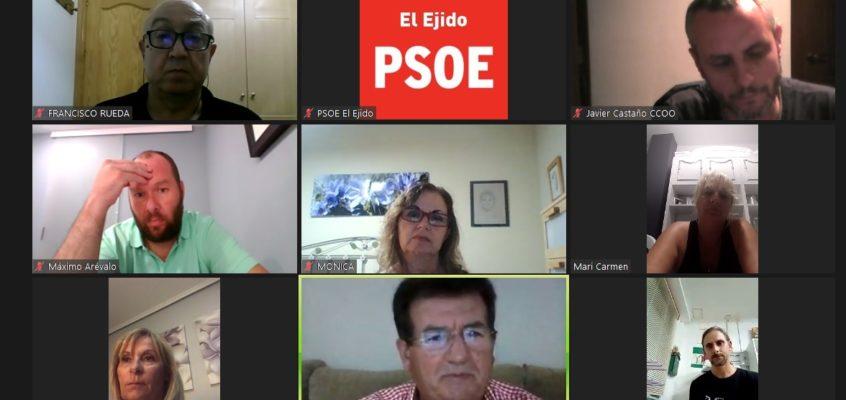 El PSOE de El Ejido traslada la preocupación frente al COVID-19 por parte de los sindicatos del sector del manipulado ante el inicio de campaña