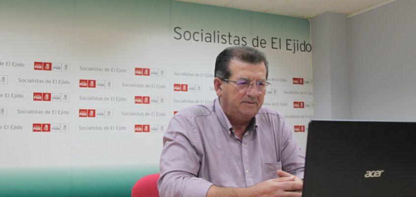 El PSOE de El Ejido pide al Gobierno local de PP y VOX que acometa las infraestructuras necesarias para acabar con las pérdidas de casi el 50% que se producen en las redes hídricas del municipio