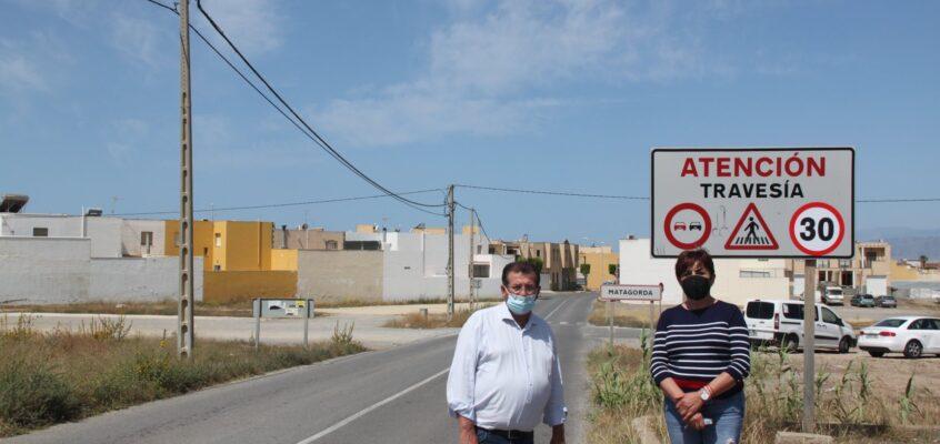 El PSOE de El Ejido reclama la instalación de resaltos en el cruce de Matagorda con la carretera del Camino de Las Chozas